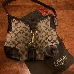 Coach Hampton Khaki Signature Hobo Bag + duster